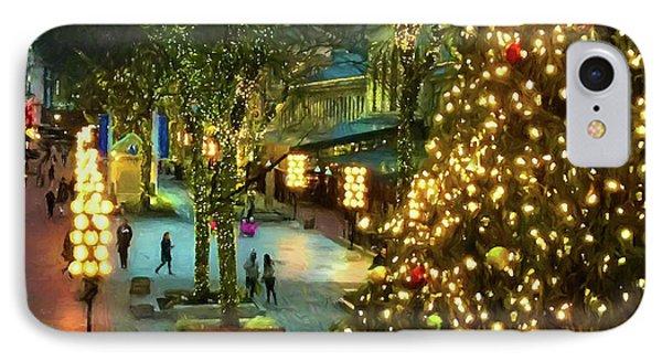 Faneuil Hall Christmas IPhone Case by Joann Vitali