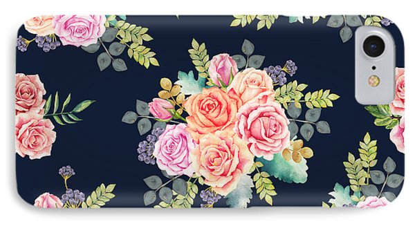 Floral Pattern 1 IPhone Case by Stanley Wong