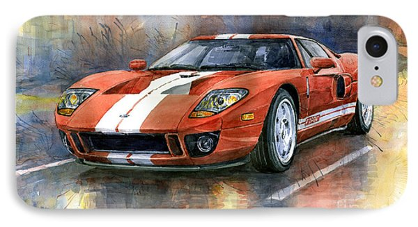 Ford Gt 40 2006  IPhone Case by Yuriy  Shevchuk