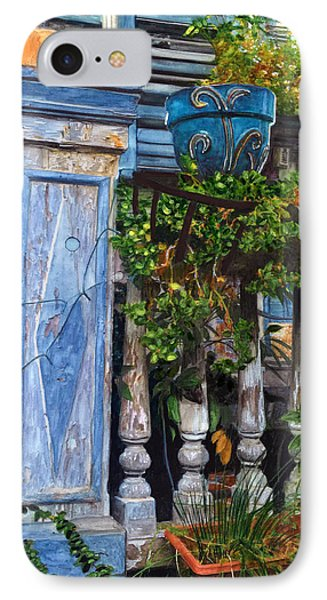 French Quarter Porch IPhone Case by John Boles