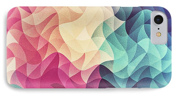 Geometry Triangle Wave Multicolor Mosaic Pattern  Hdr  Low Poly Art IPhone Case by Philipp Rietz