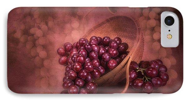 Grapes In Wicker Basket IPhone 7 Case by Tom Mc Nemar