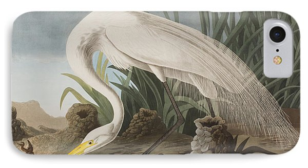 Great Egret IPhone 7 Case by John James Audubon