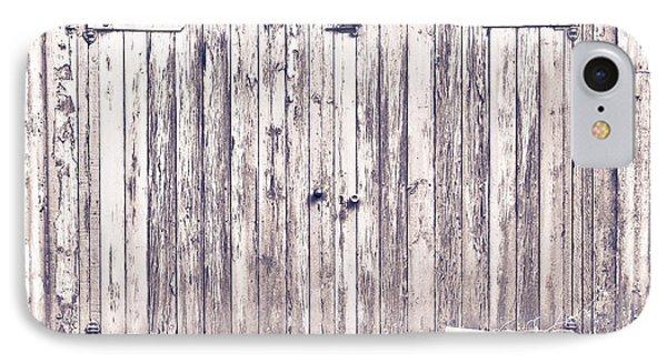 Green Barn Door IPhone Case by Tom Gowanlock