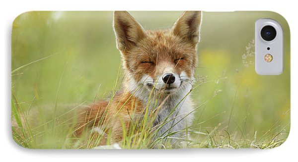 Happy Fox Is Happy IPhone Case by Roeselien Raimond