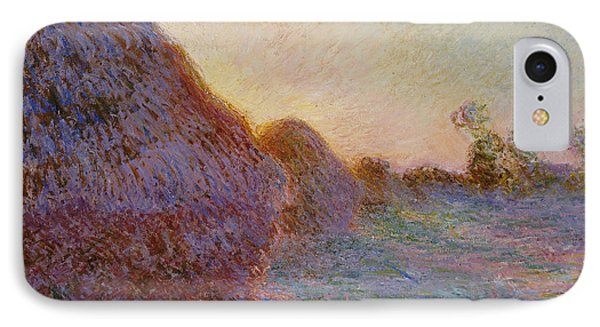 Haystacks Phone Case by Claude Monet
