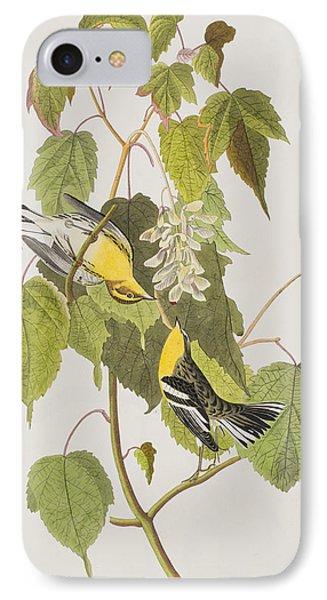 Hemlock Warbler IPhone 7 Case by John James Audubon