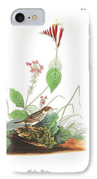 Henslow's Bunting  IPhone Case by John James Audubon