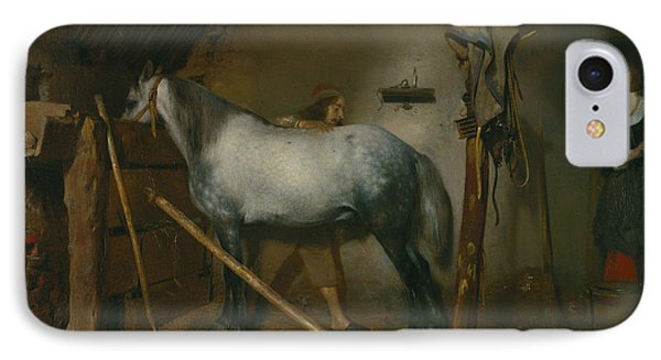 Horse Stable IPhone Case by Gerard ter Borch