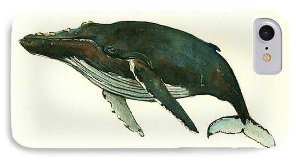 Humpback Whale  IPhone Case by Juan  Bosco
