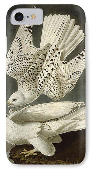 Iceland Or Jer Falcon IPhone 7 Case by John James Audubon