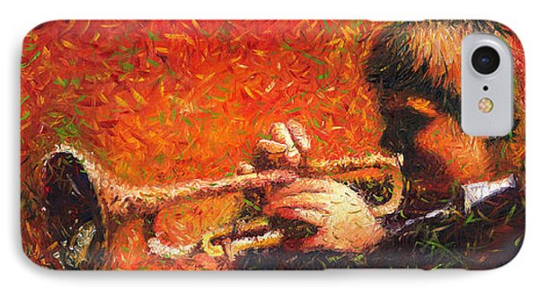 Jazz Trumpeter IPhone 7 Case by Yuriy  Shevchuk