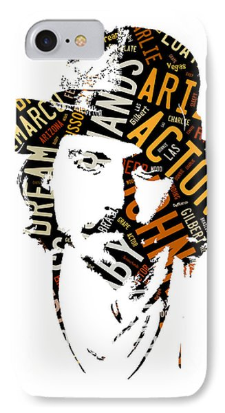 Johnny Depp Movie Titles IPhone Case by Marvin Blaine
