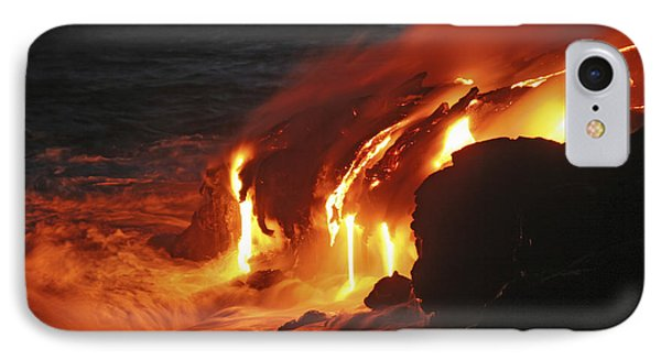 Kilauea Lava Flow Sea Entry, Big Phone Case by Martin Rietze