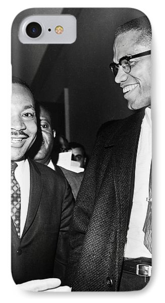 King And Malcolm X, 1964 Phone Case by Granger