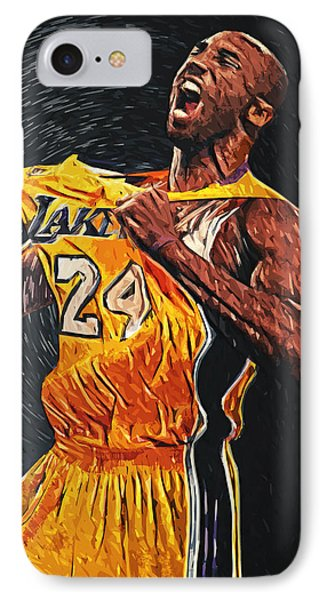 Kobe Bryant IPhone 7 Case by Taylan Apukovska