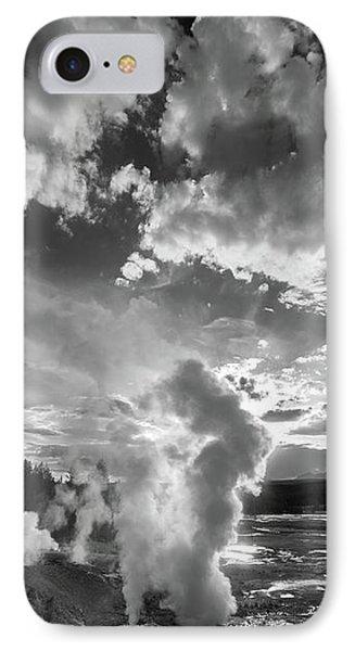 Ledge Geyser Yellowstone N P IPhone Case by Steve Gadomski