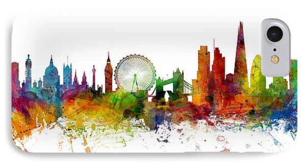 London England Skyline Panoramic IPhone 7 Case by Michael Tompsett