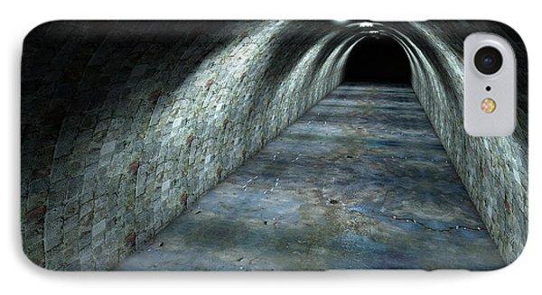 Long Tunnel Lights IPhone Case by Allan Swart