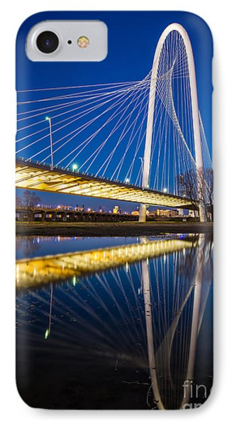 Margaret Hunt Hill Bridge IPhone Case by Inge Johnsson