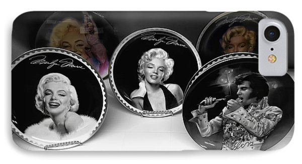 Marilyn And Elvis Phone Case by Daniel Hagerman