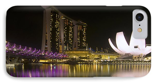 Marina Bay Sands Hotel And Artscience Museum In Singapore IPhone Case by Zoe Ferrie