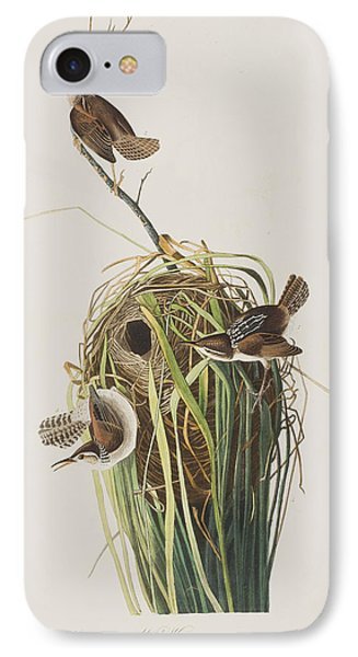 Marsh Wren  IPhone 7 Case by John James Audubon