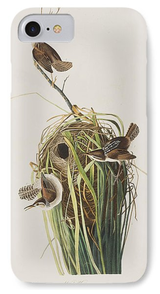 Marsh Wren  IPhone Case by John James Audubon