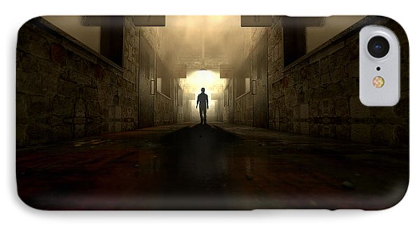 Mental Asylum With Ghostly Figure IPhone Case by Allan Swart