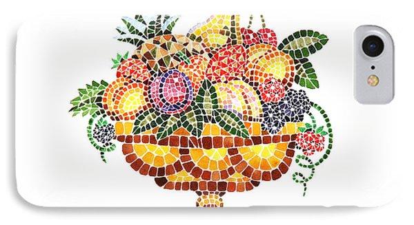 Mosaic Fruit Vase IPhone Case by Irina Sztukowski