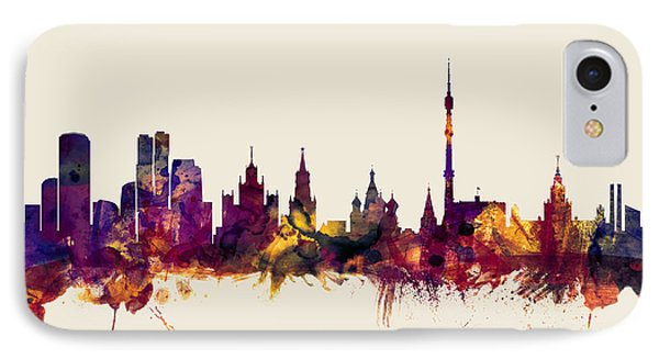 Moscow Russia Skyline IPhone Case by Michael Tompsett