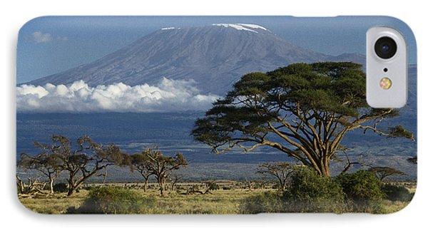 Mount Kilimanjaro IPhone Case by Michele Burgess