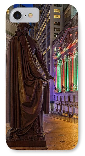 New York City Stock Exchange Wall Street Nyse IPhone Case by Susan Candelario
