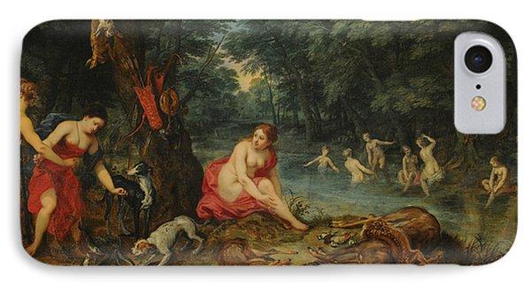 Nymphs Bathing IPhone Case by Jan Brueghel the Elder
