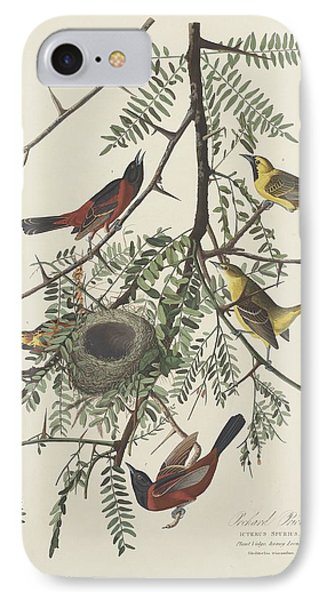 Orchard Oriole IPhone 7 Case by John James Audubon