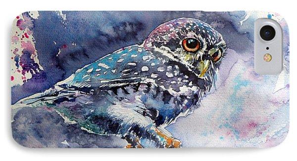 Owl At Night IPhone 7 Case by Kovacs Anna Brigitta