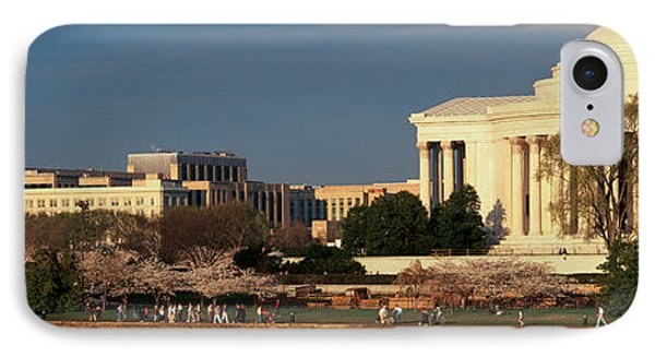 Panoramic View Of Jefferson Memorial IPhone Case by Panoramic Images