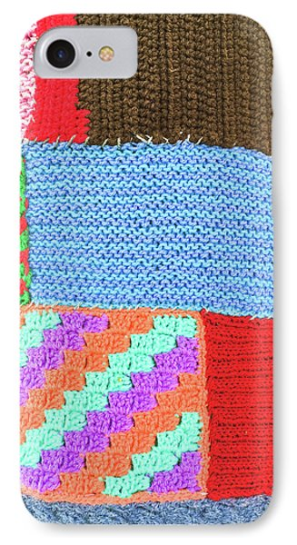 Patchwork Wool IPhone Case by Tom Gowanlock