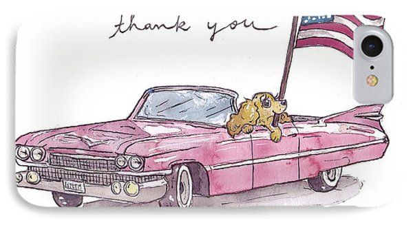 Patriotic Puppy Thank You Card IPhone Case by Katrina Davis
