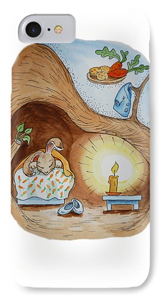 Peter Rabbit And His Dream IPhone 7 Case by Irina Sztukowski