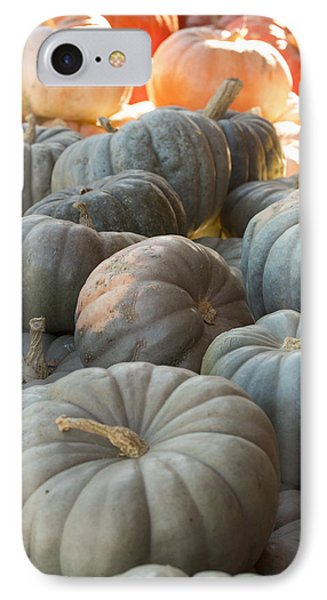 Pile Of Jarrahdale Pumpkins IPhone Case by Christina Peters