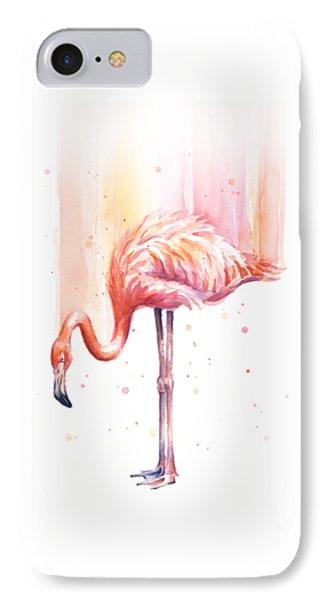 Pink Flamingo - Facing Right IPhone Case by Olga Shvartsur