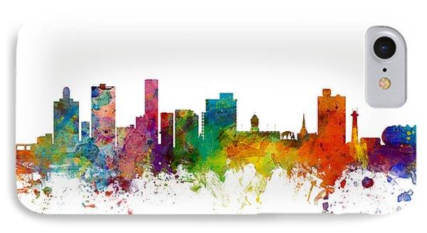 Port Elizabeth South Africa Skyline IPhone Case by Michael Tompsett
