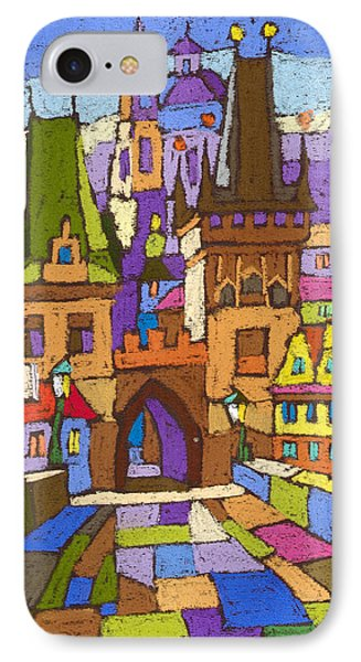 Prague Charles Bridge 01 IPhone Case by Yuriy  Shevchuk