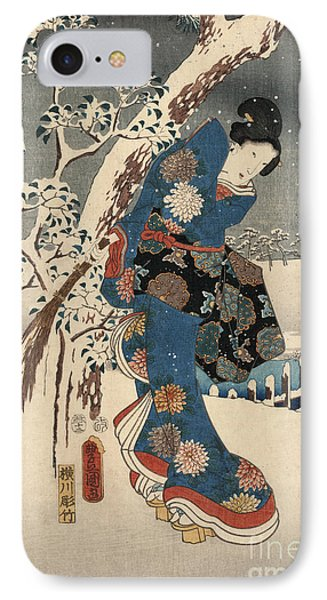 Print From The Tale Of Genji IPhone Case by Kunisada and Hiroshige