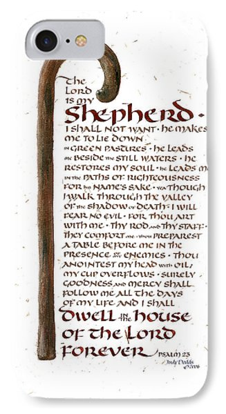 Psalm 23 IPhone Case by Judy Dodds