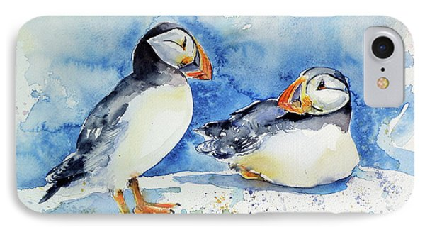 Puffins IPhone Case by Kovacs Anna Brigitta
