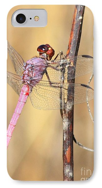 Red Dragonfly Portrait Phone Case by Carol Groenen