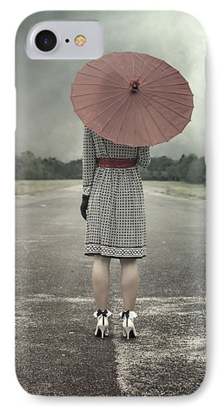 Red Umbrella IPhone Case by Joana Kruse