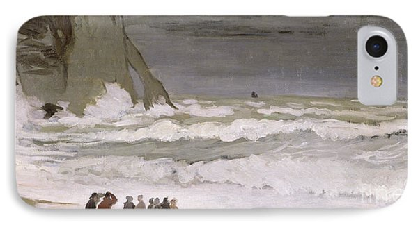 Rough Sea At Etretat IPhone Case by Claude Monet